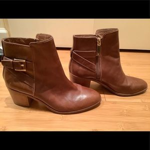 Brown Leather Low Riding Style booties